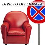 divieto di sedersi in poltrona