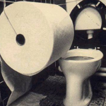 enorme rotolo di carta igienica