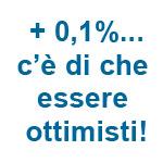 scritta +0,1%... c'è di che essere ottimisti