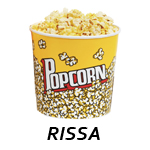"""immagine di un pacco di pop corn e sotto la scritta """"rissa"""""""