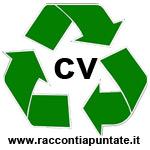 simbolo del riciclaggio con al centro la scritta cv